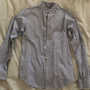 Theory men's long sleeve shirt button size Small